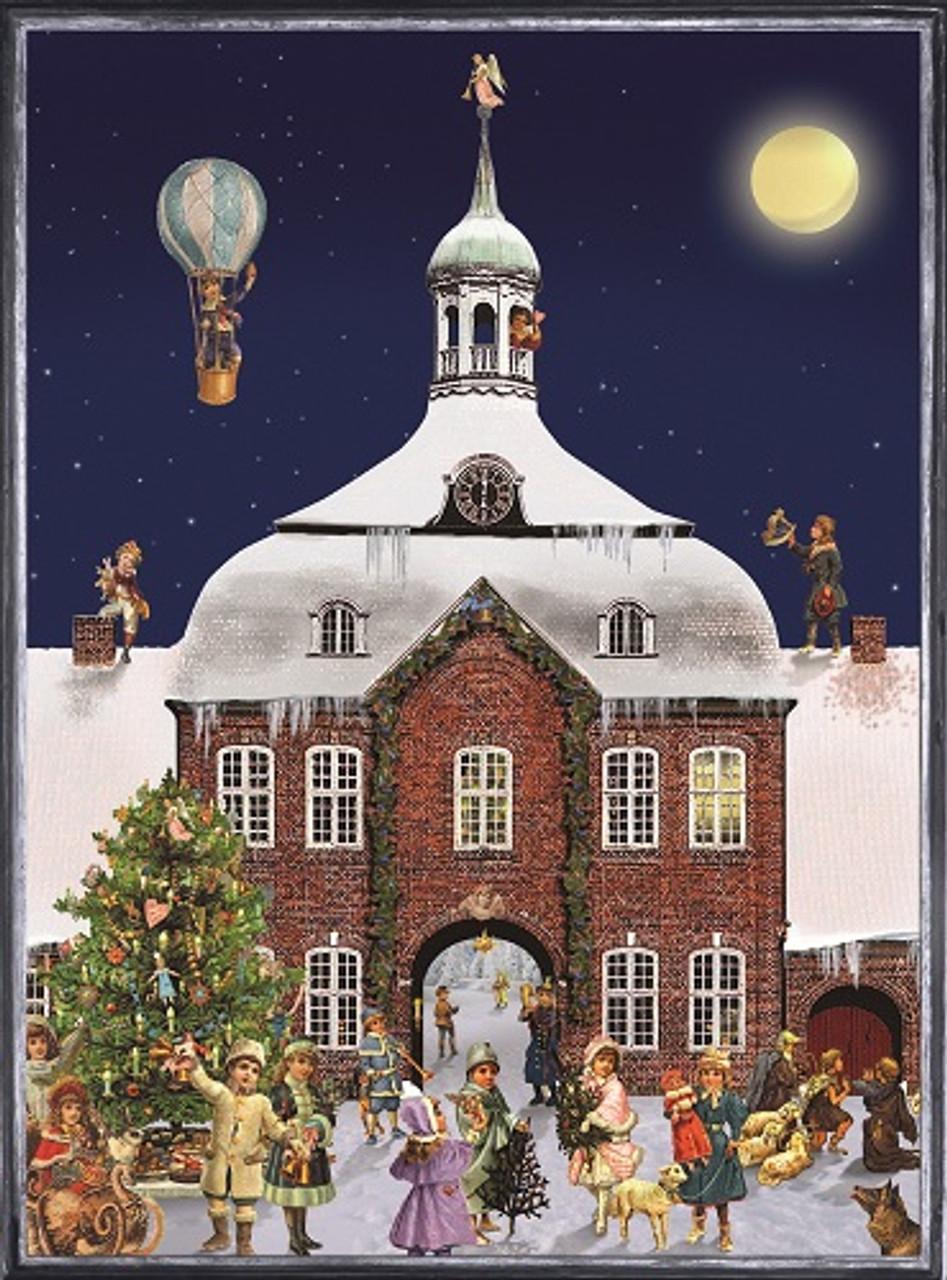 Victorian Town Hall German Christmas Advent Calendar