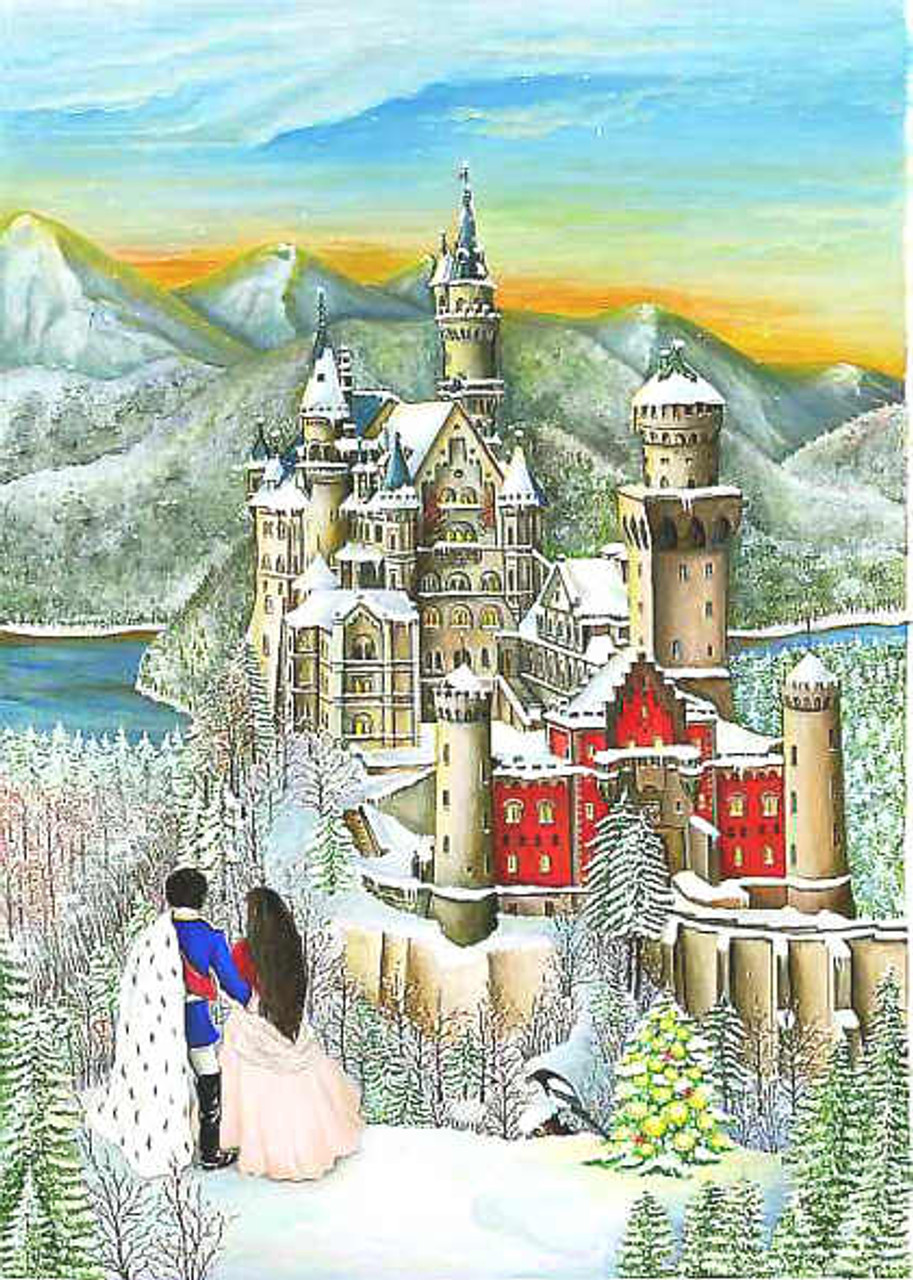 Winter Fairy Tale Castle German Advent Calendar