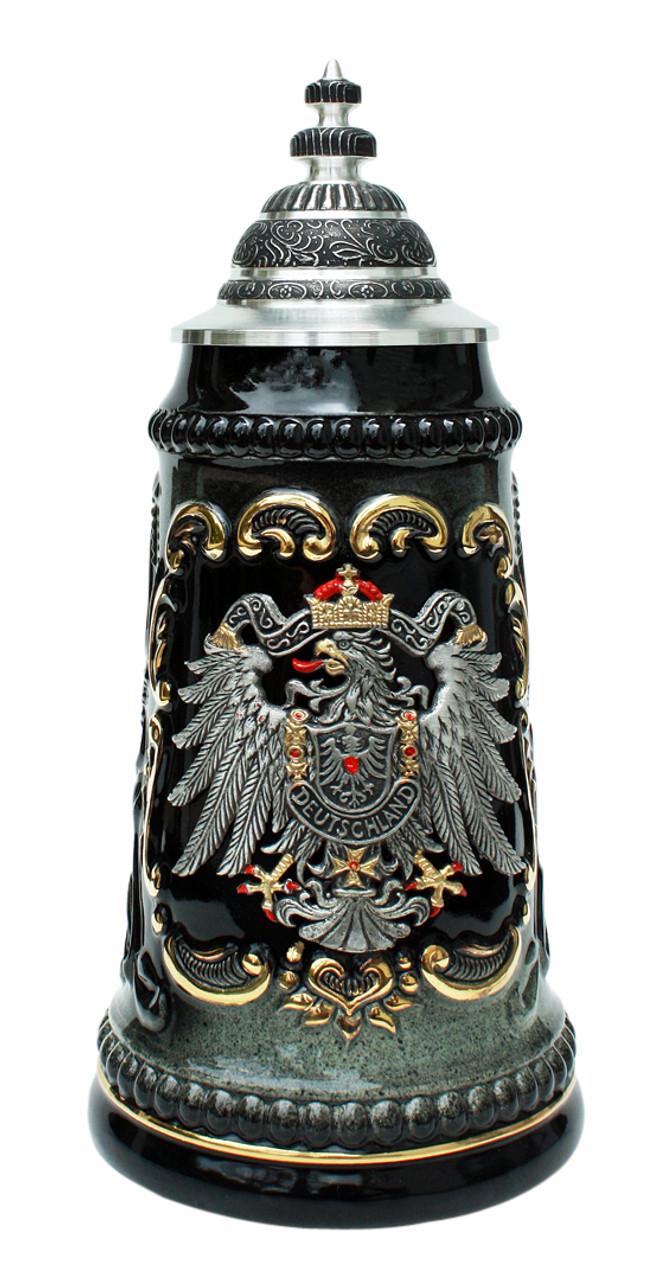 Deutschland Pewter Eagle Beer Stein