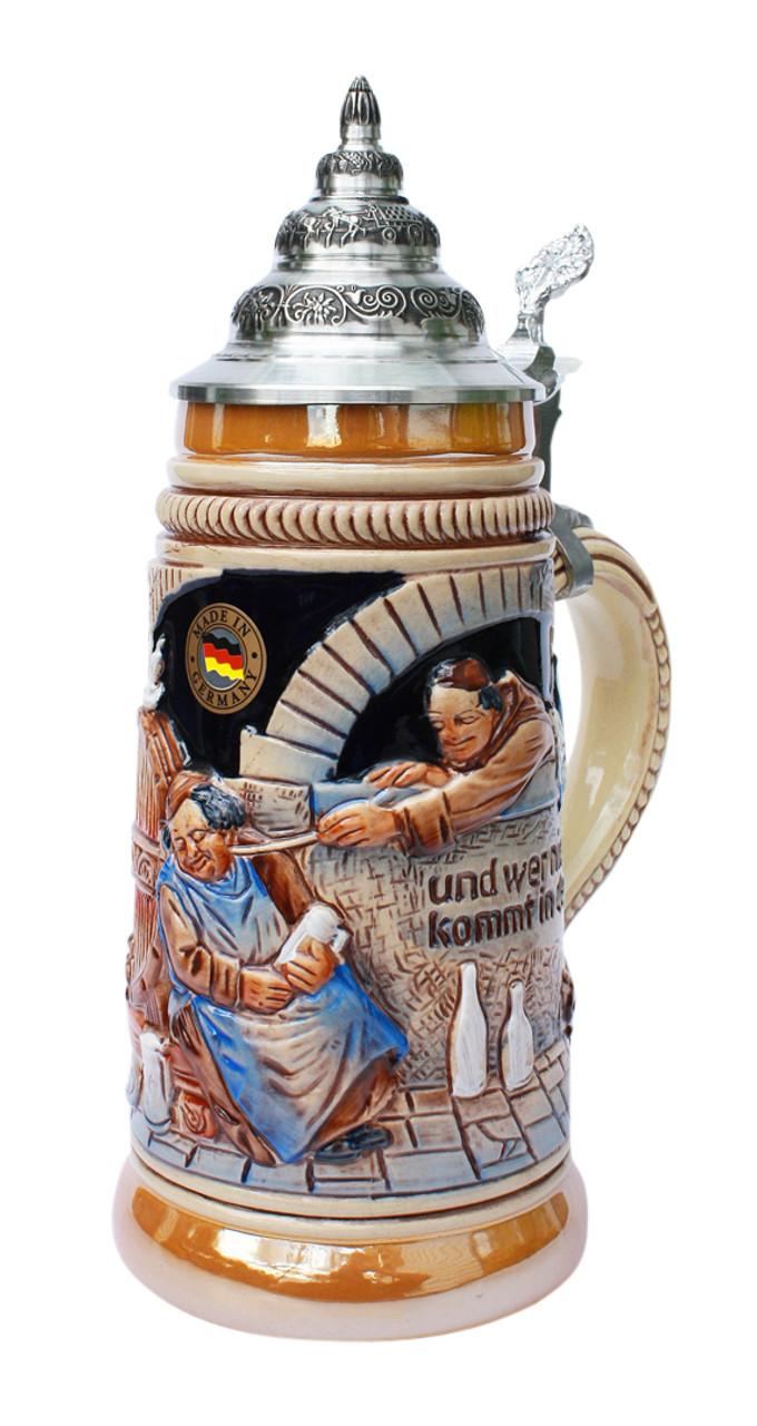 Drink Beer and Go To Heaven Beer Stein
