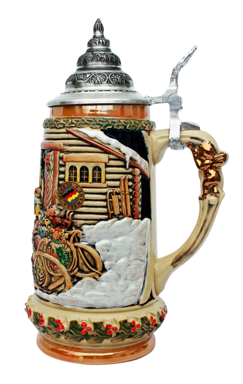 .5 L Hand-Painted Christmas German Stein