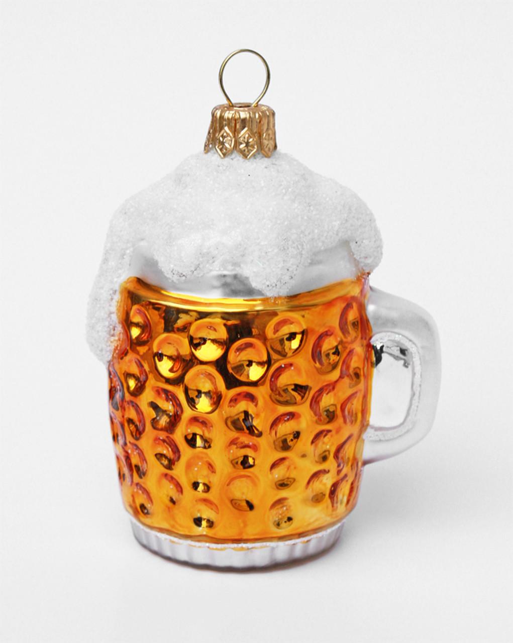 Oktoberfest Glass Beer Mug German Glass Christmas Ornament