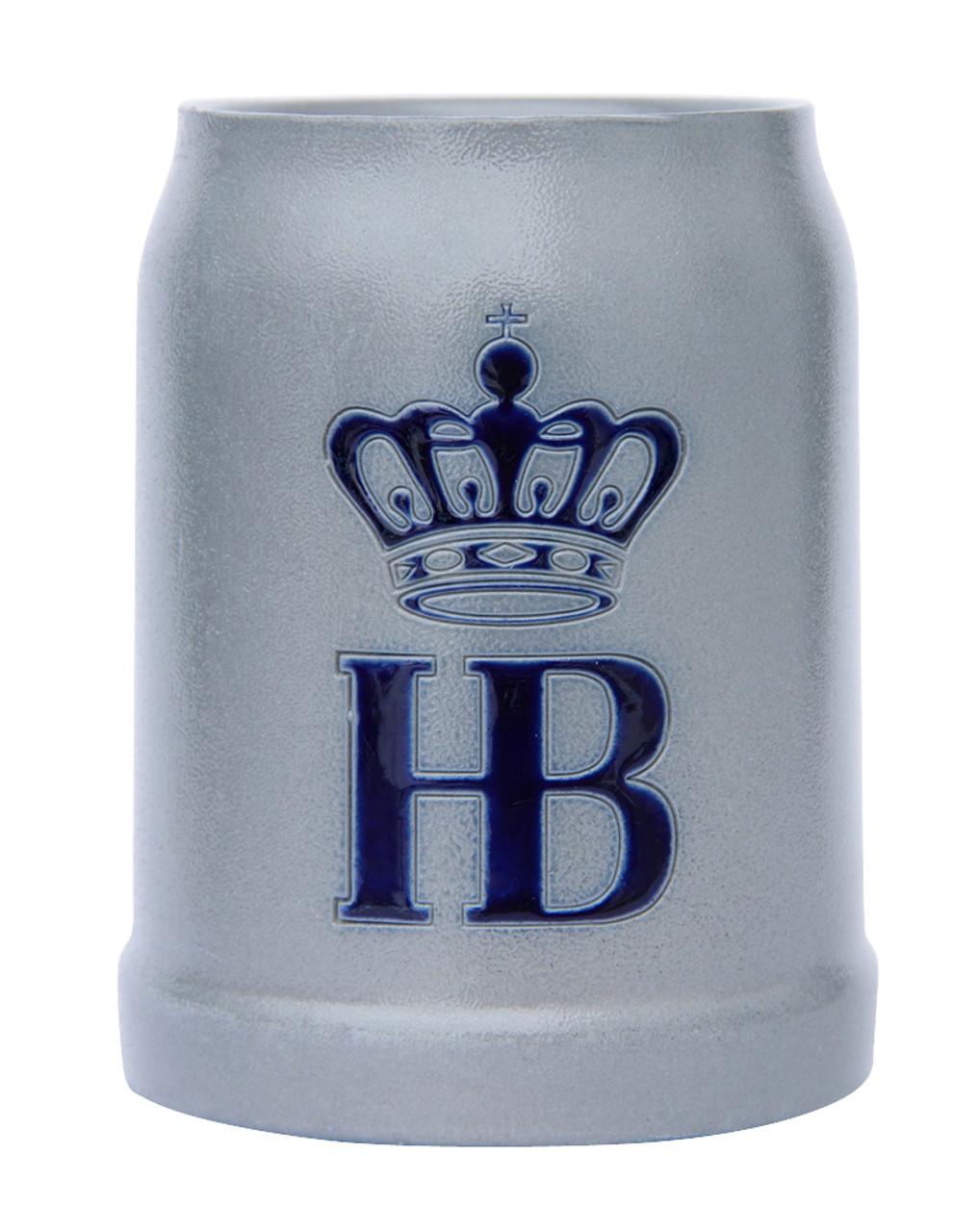 Hofbrauhaus HB 0.5 Liter Salt Glaze Stoneware Beer Mug
