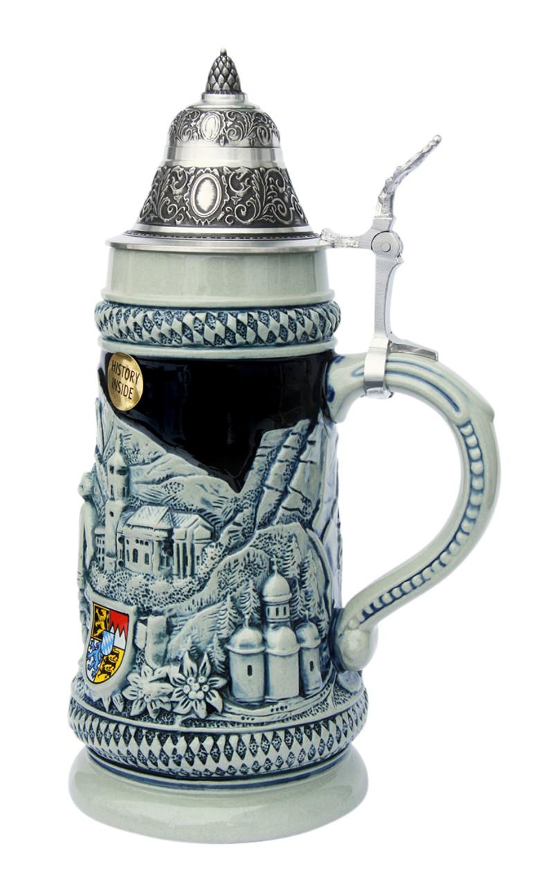 Bavarian Traditions Beer Stein Cobalt Blue
