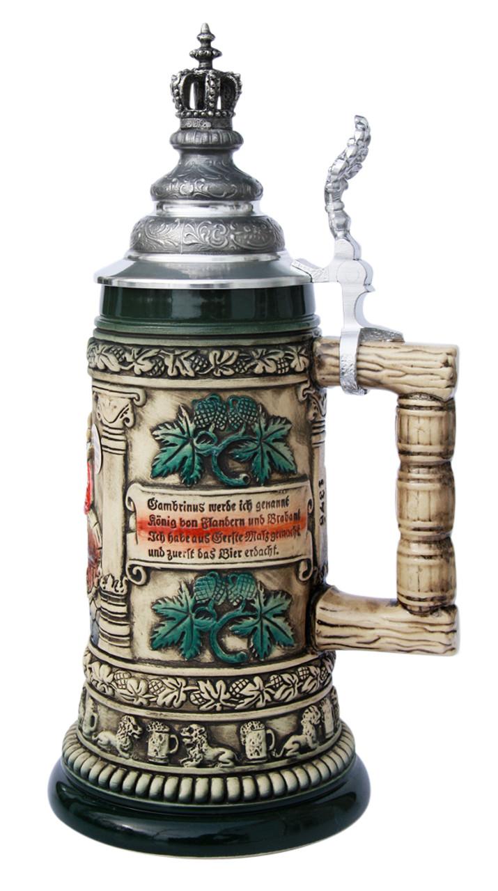 Gambrinus The Beer King Stein with Crown Lid