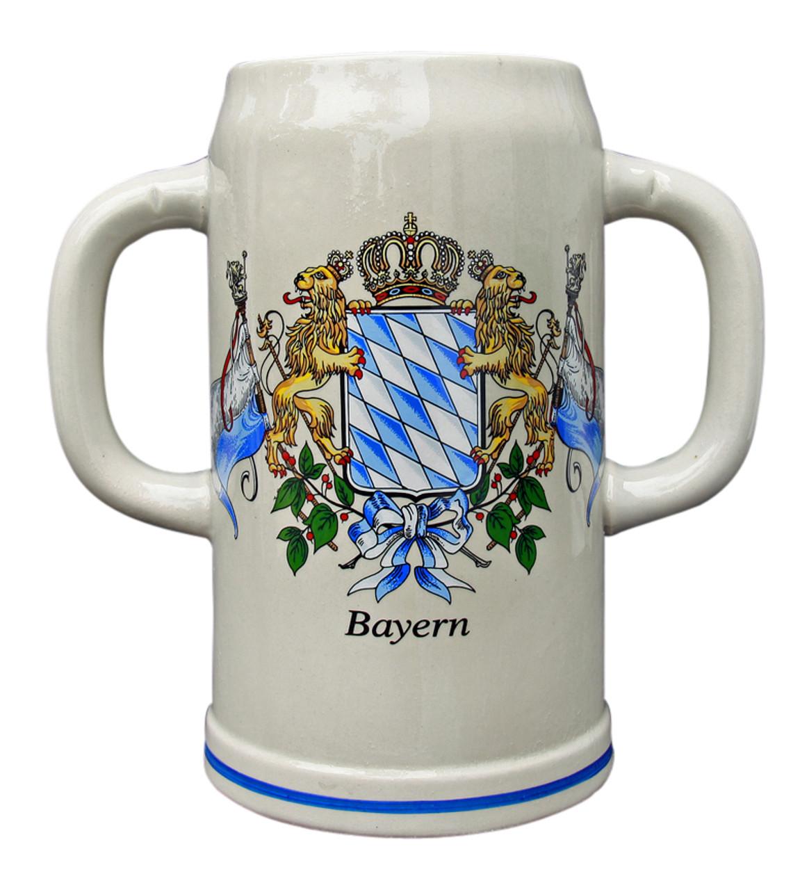 Double Handle Oktoberfest Ceramic Beer Mug