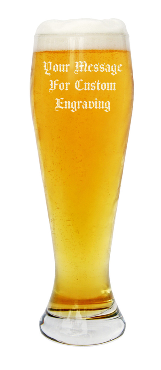 Personalized wheat beer glass makes for a perfect gift for Germans