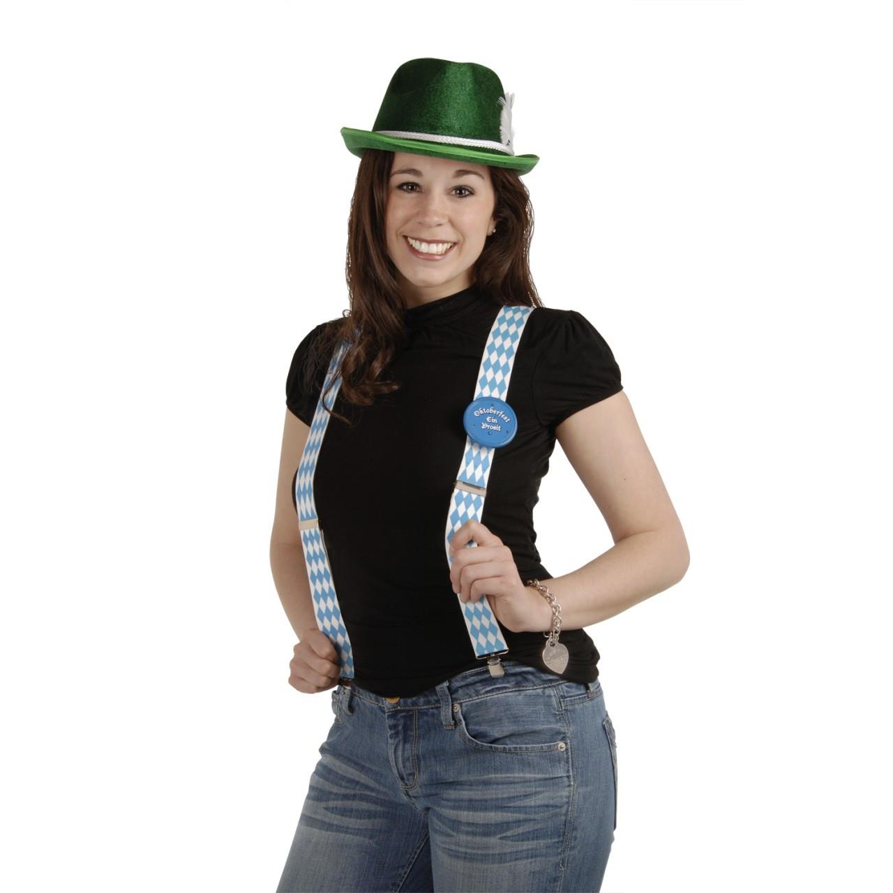 Bavarian Flag Oktoberfest Party Suspenders