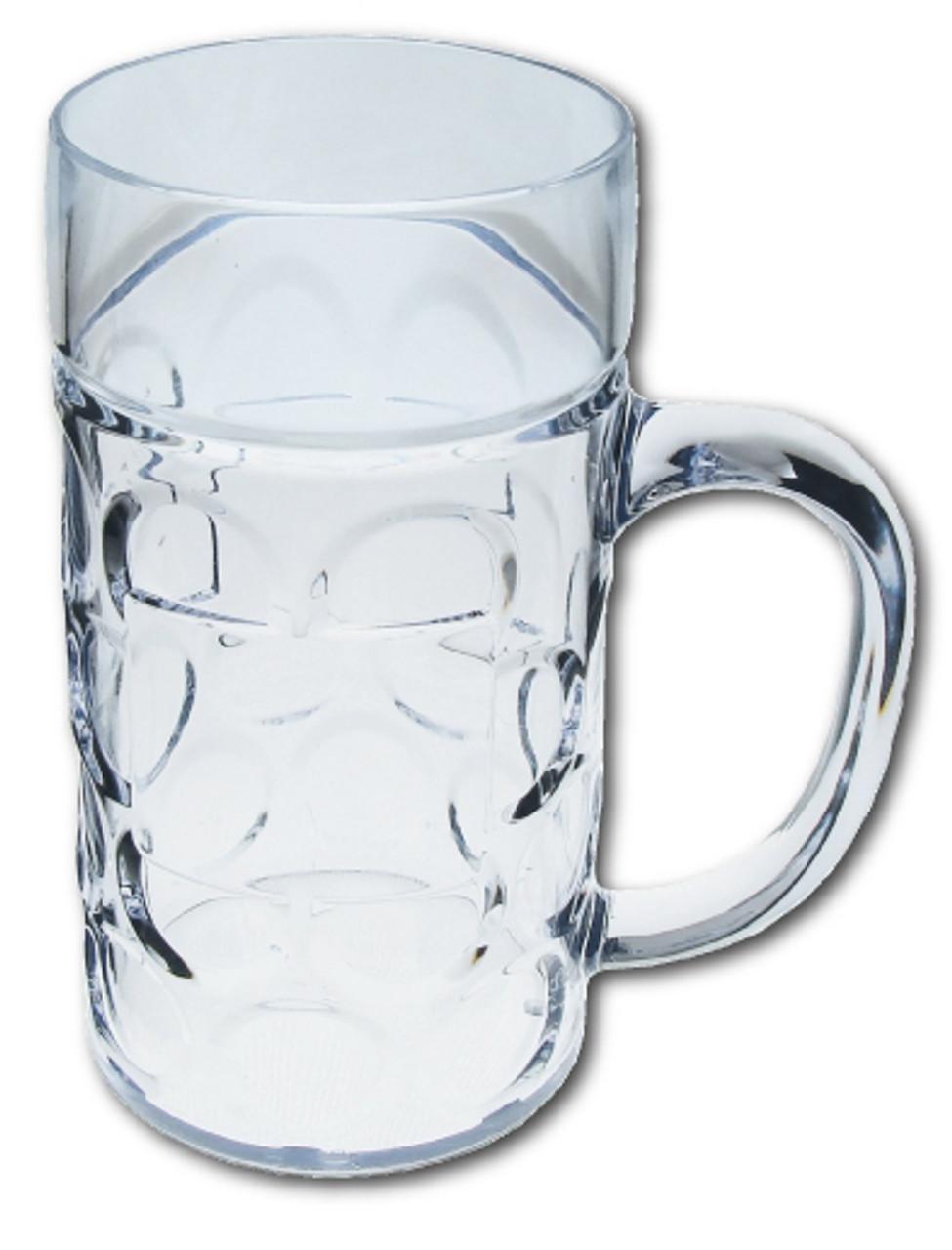 Plastic Beer Mug 24 Pack 0.5 Liter