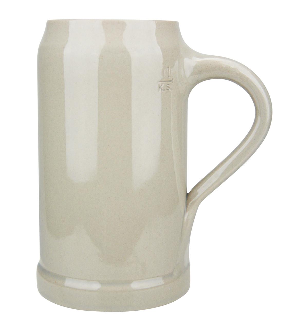 German Stoneware Beer Mug 1 Liter