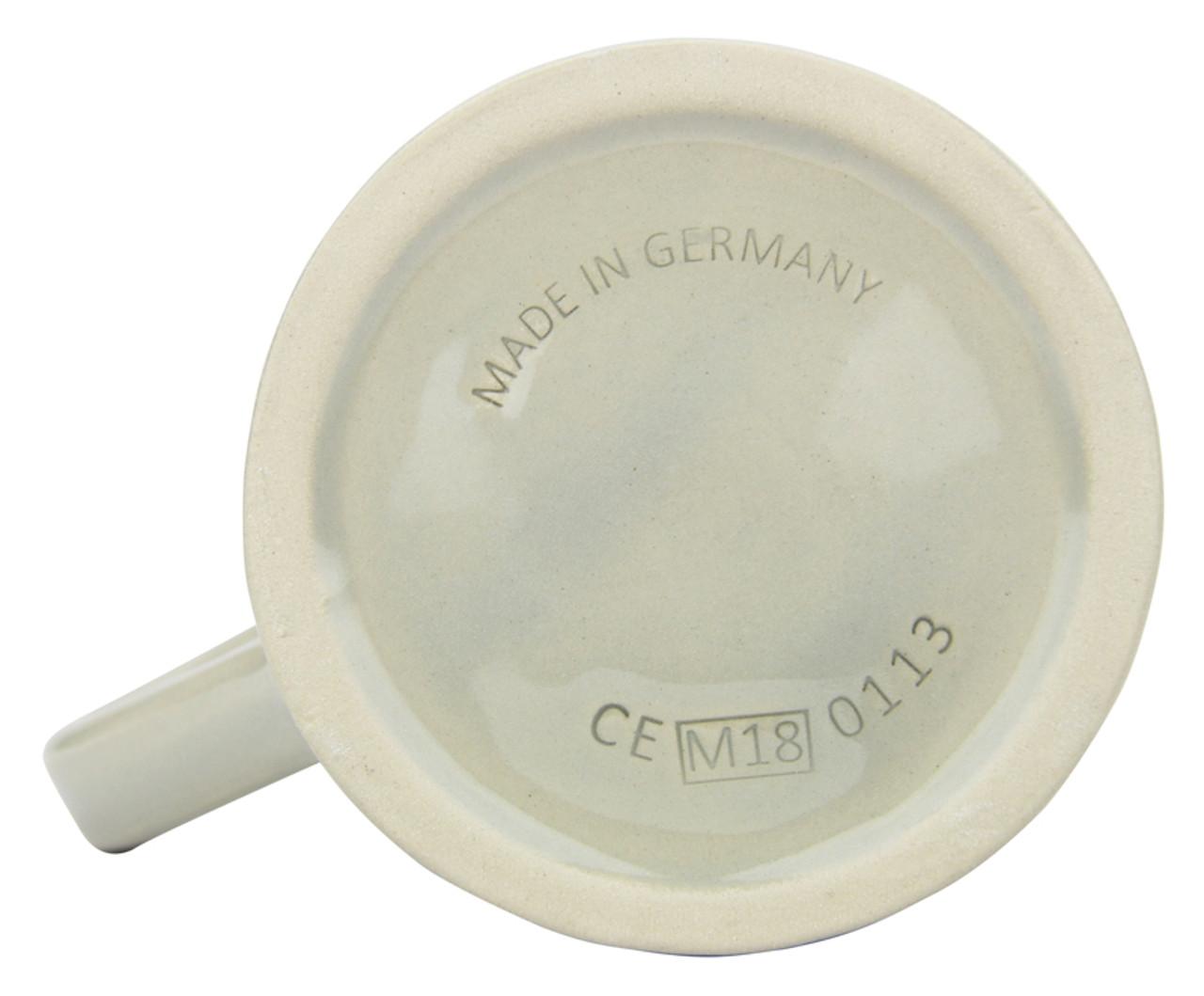 Bottom, 1 Liter Stoneware Beer Mug, Made in Germany