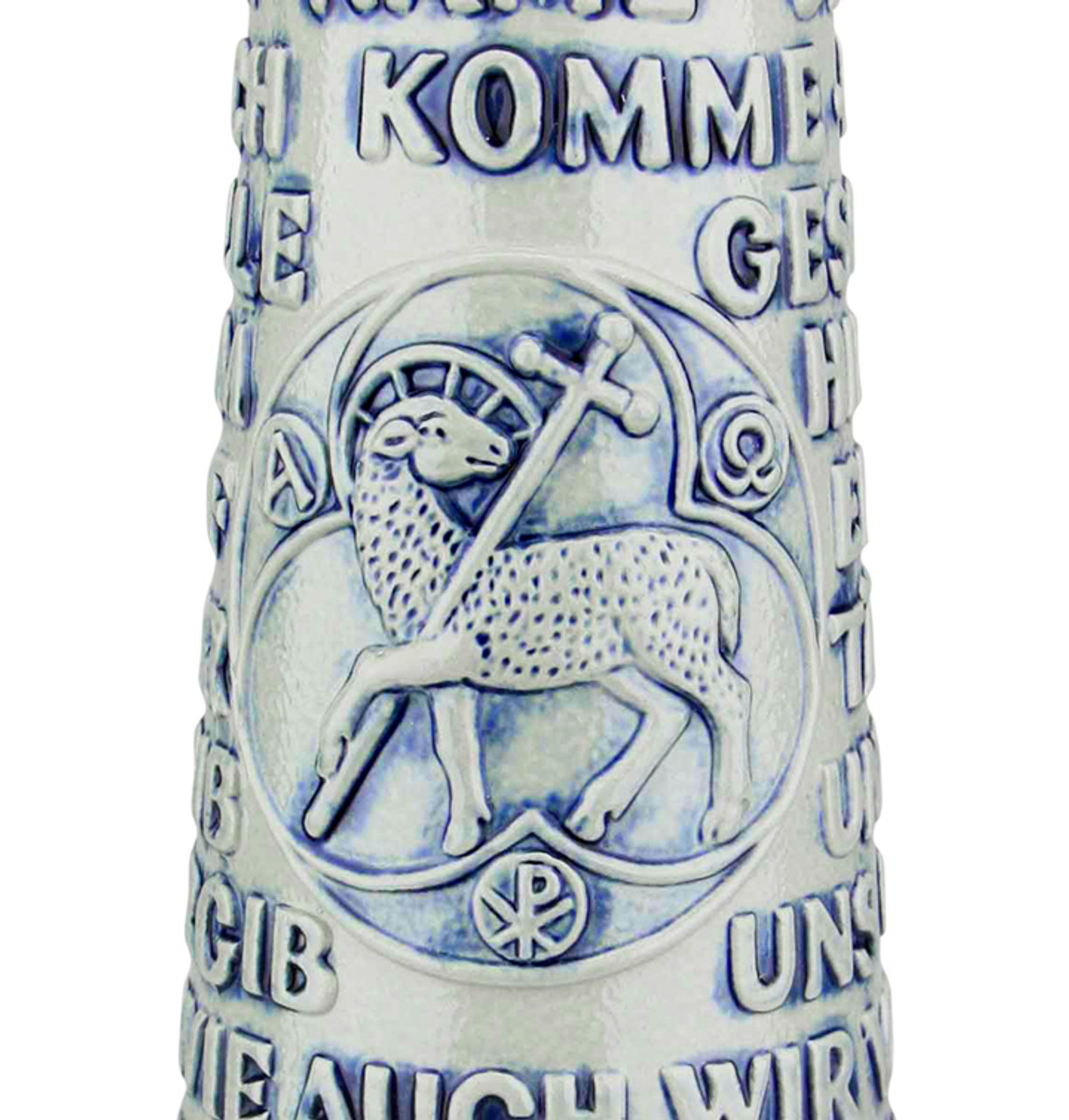 Lord's Prayer Beer Stein Cobalt with Ball Thumblift