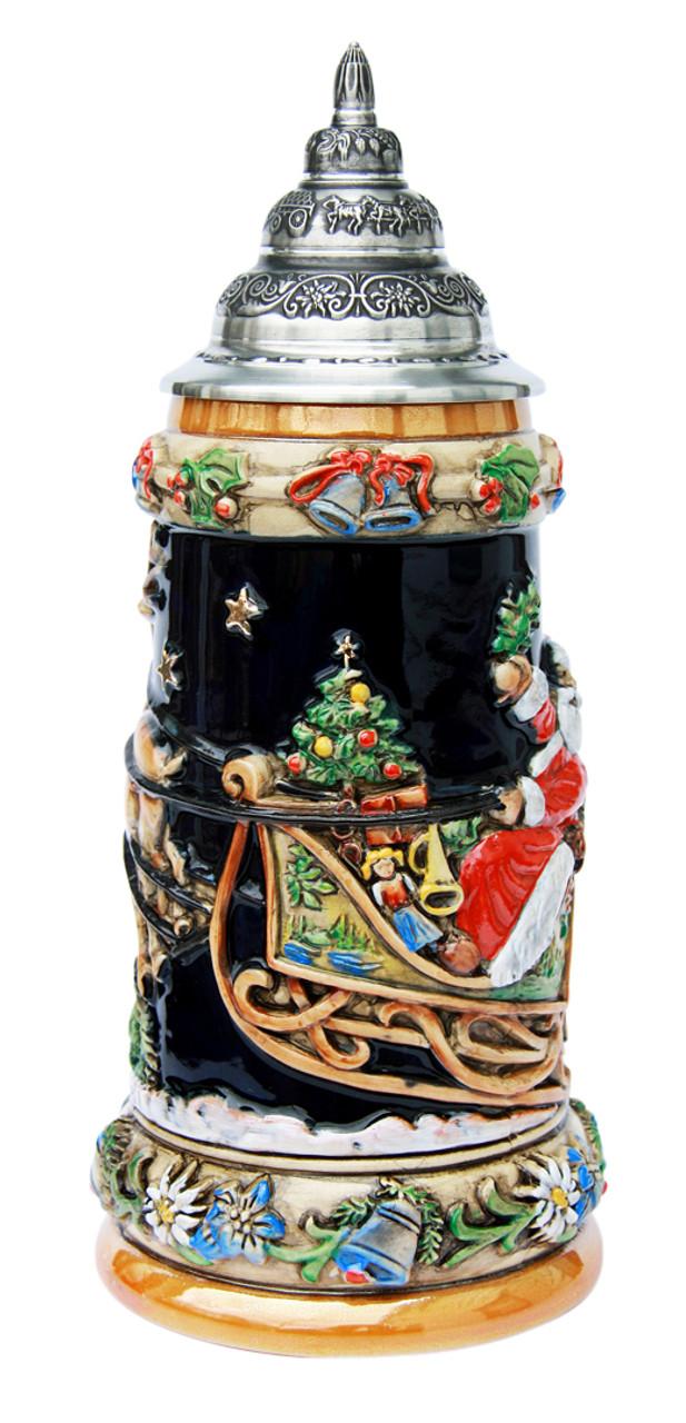 Handpainted Christmas German Ceramic Stein