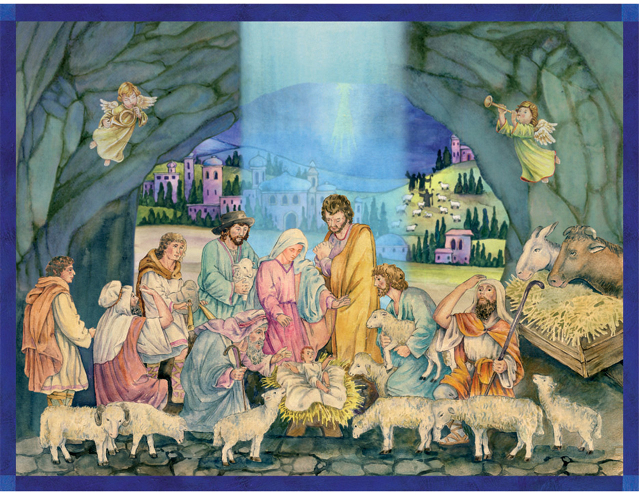 Birth of Christ Manger Scene German Advent Calendar