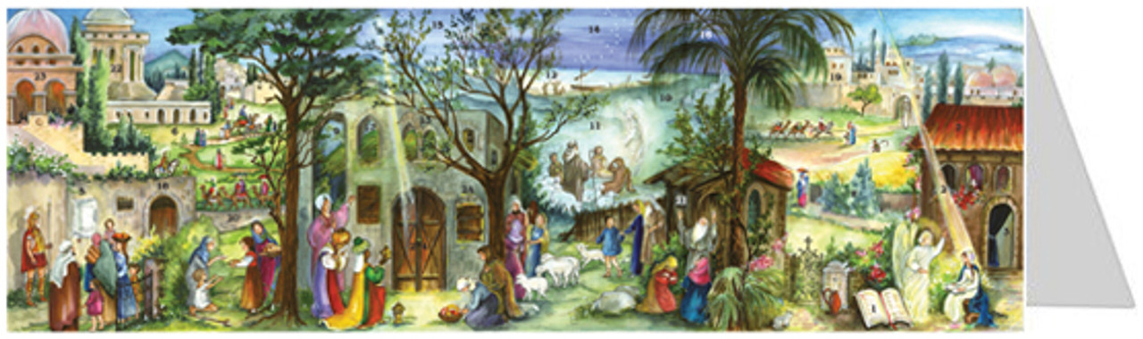 Bethlehem Panorama Advent Calendar Christmas Card