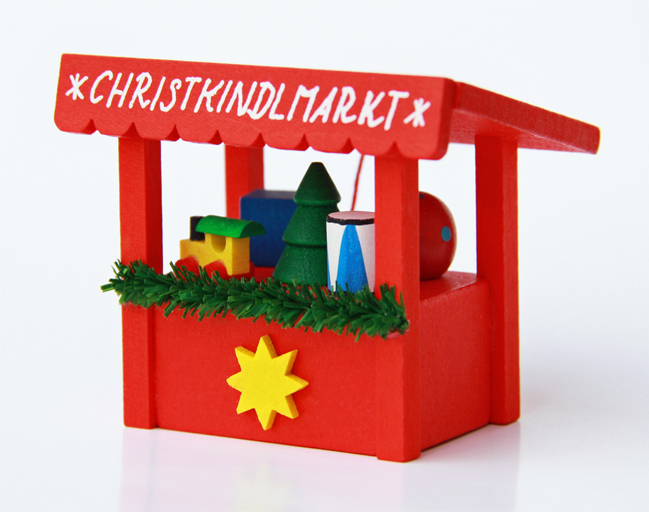 Christmas Market Wooden German Christmas Ornament