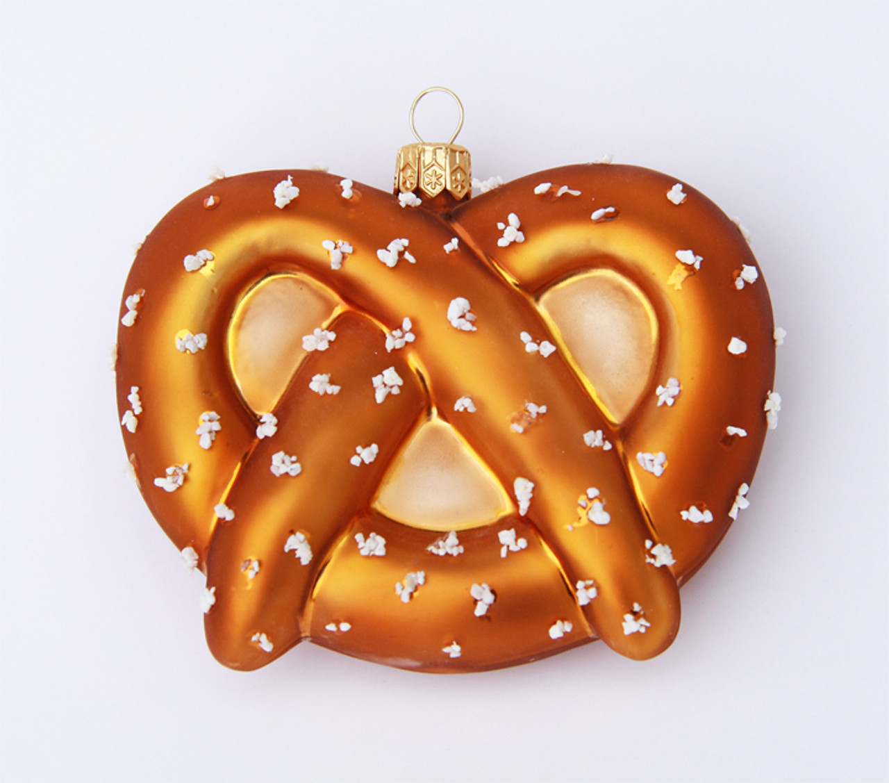Oktoberfest Pretzel Glass Christmas Ornament