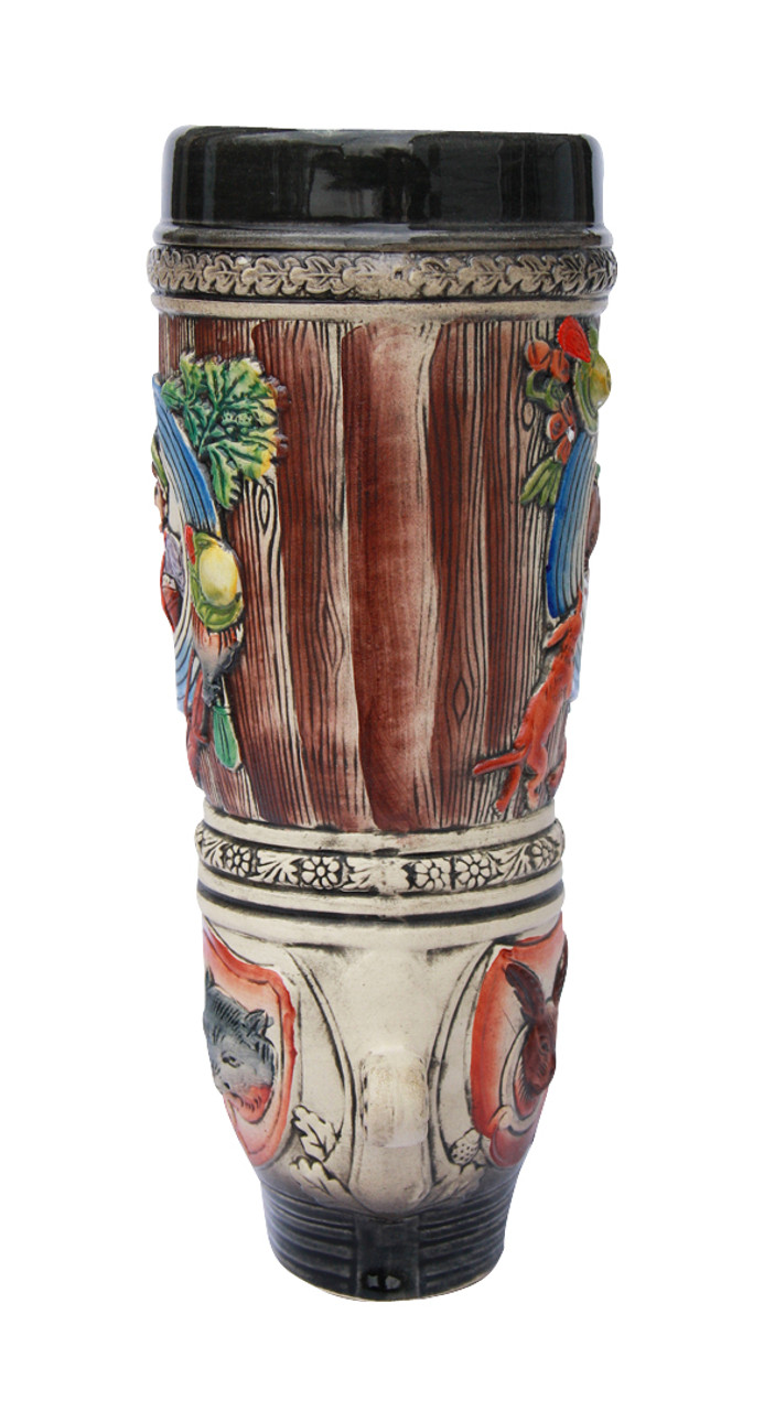 Hand-Painted 1 Liter Ceramic Beer Boot