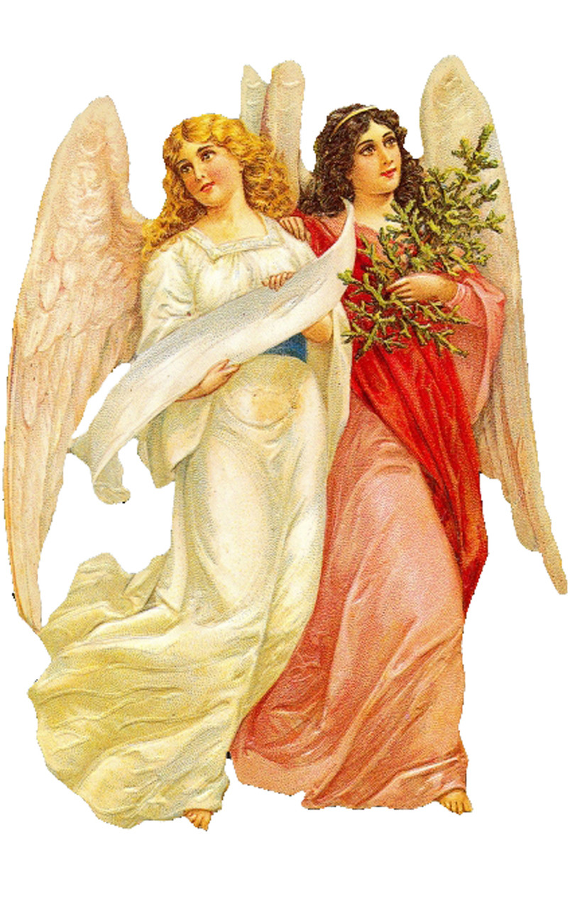 Angels German Christmas Card
