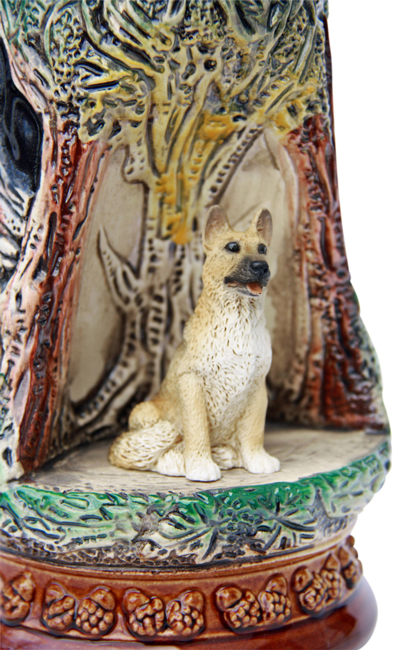 German Shepherd Wildlife Grotto Beer Stein