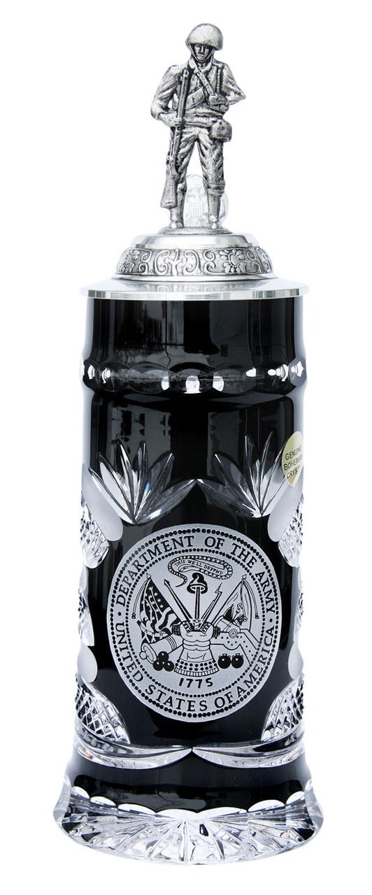 US Army Lord of Crystal Beer Stein