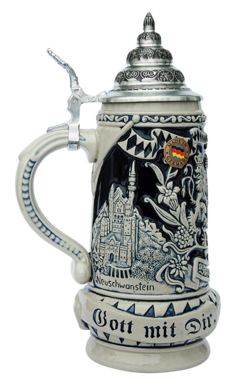 Land of Bavaria Beer Stein Cobalt