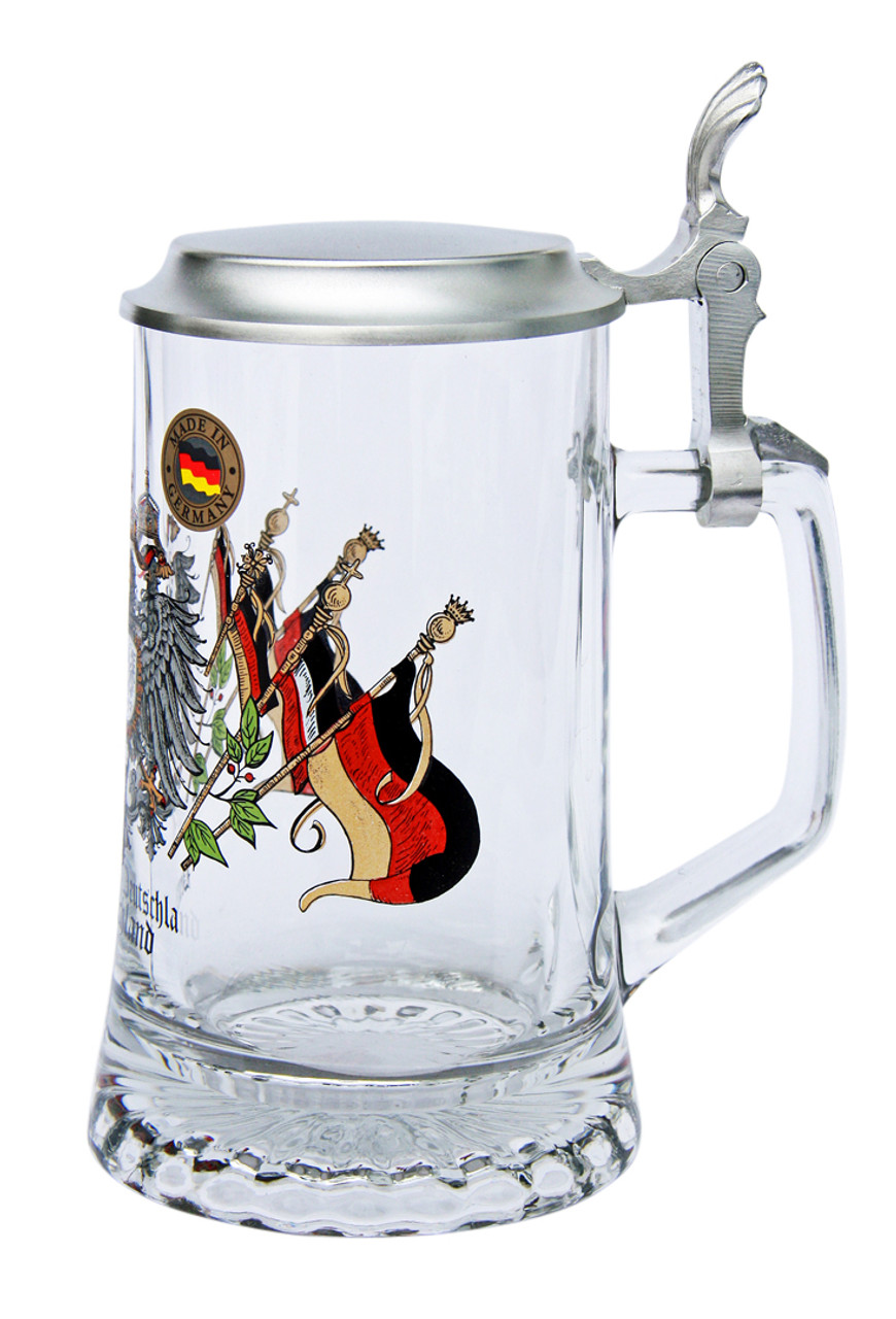 Personalized German Glass Beer Stein with Logo