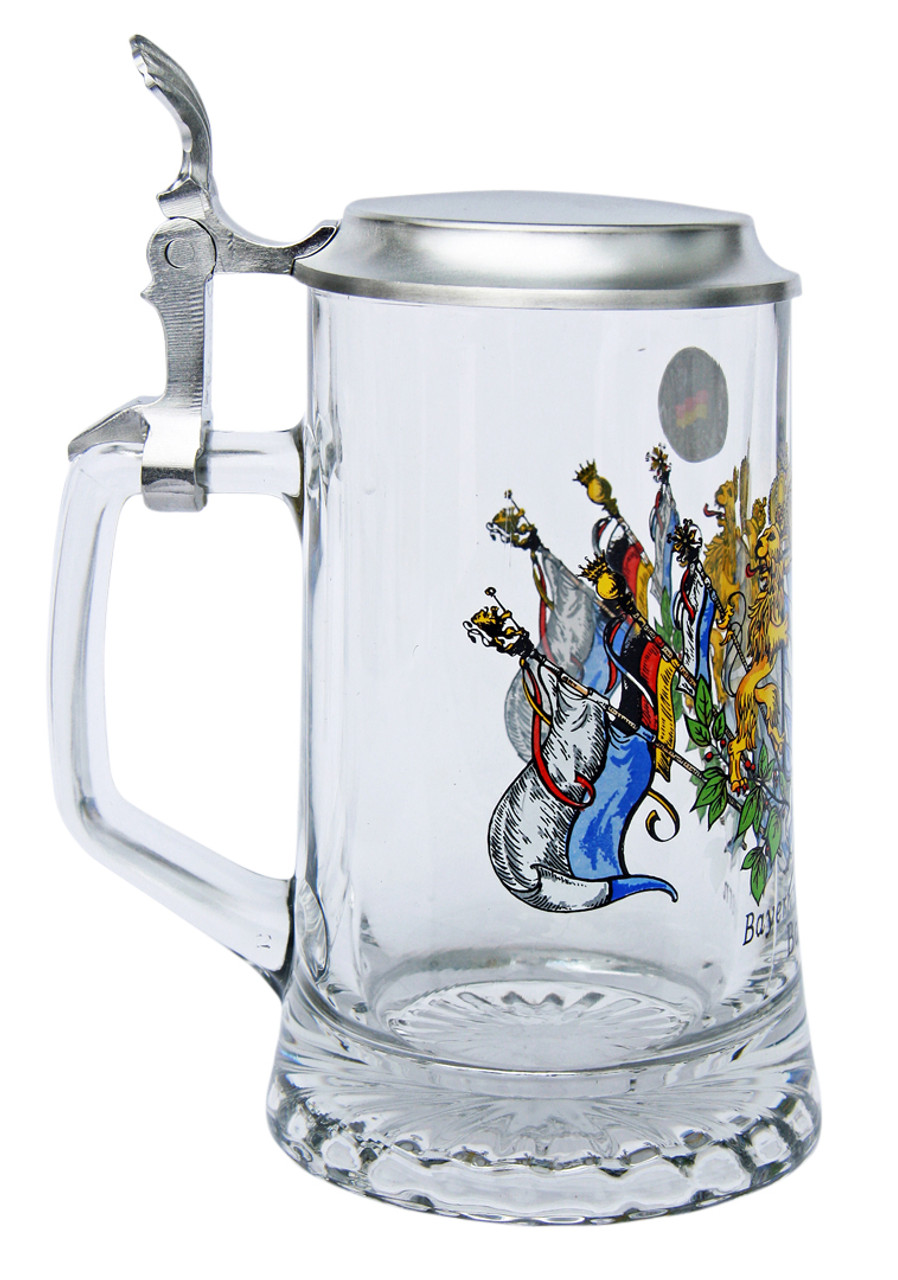 Traditional German Personalized Glass Beer Stein