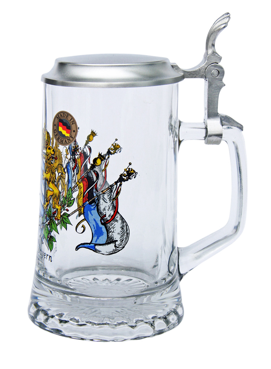 Glass Beer Mug Personalized with Handle