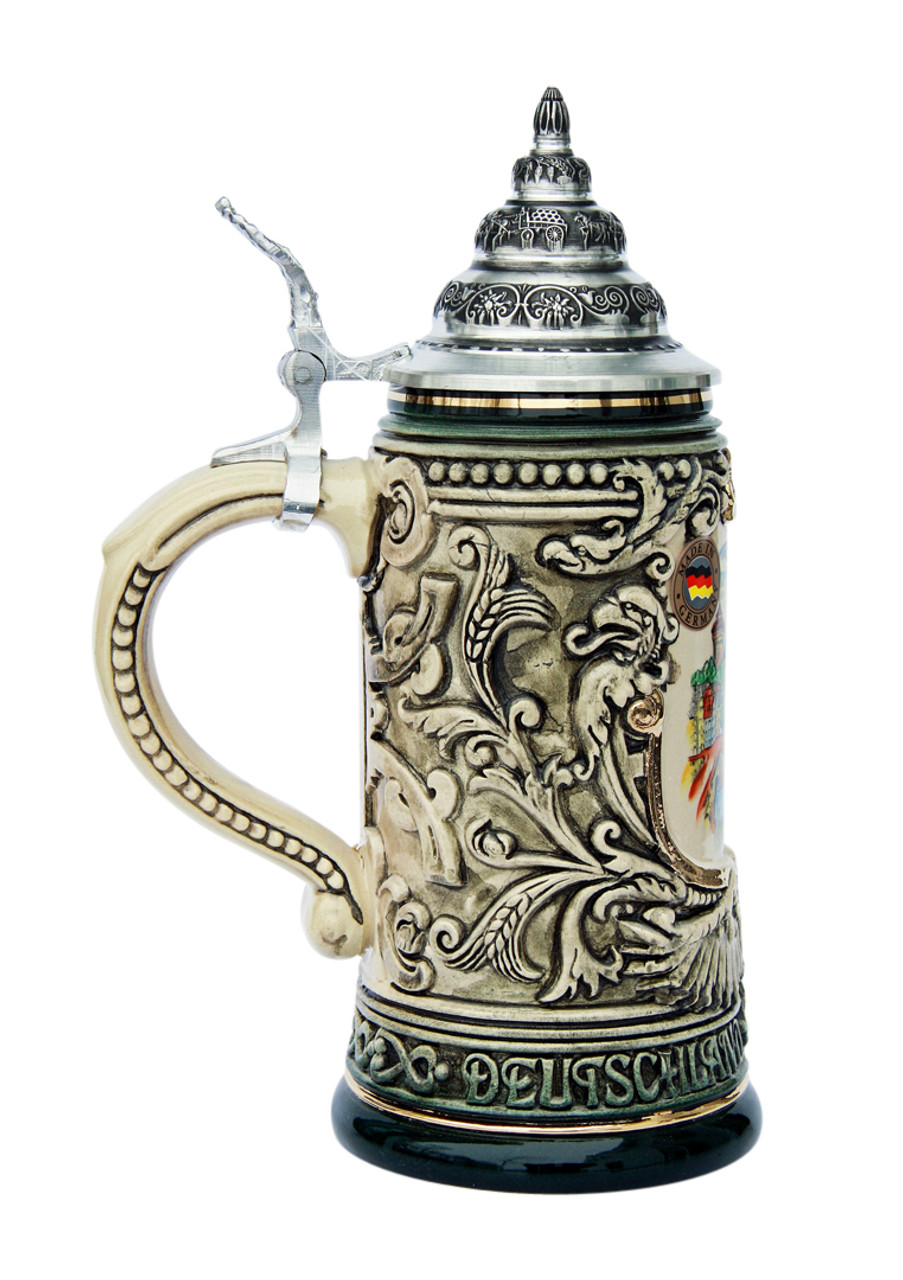 Nuernberg City Skyline Beer Stein 0.4 Liter
