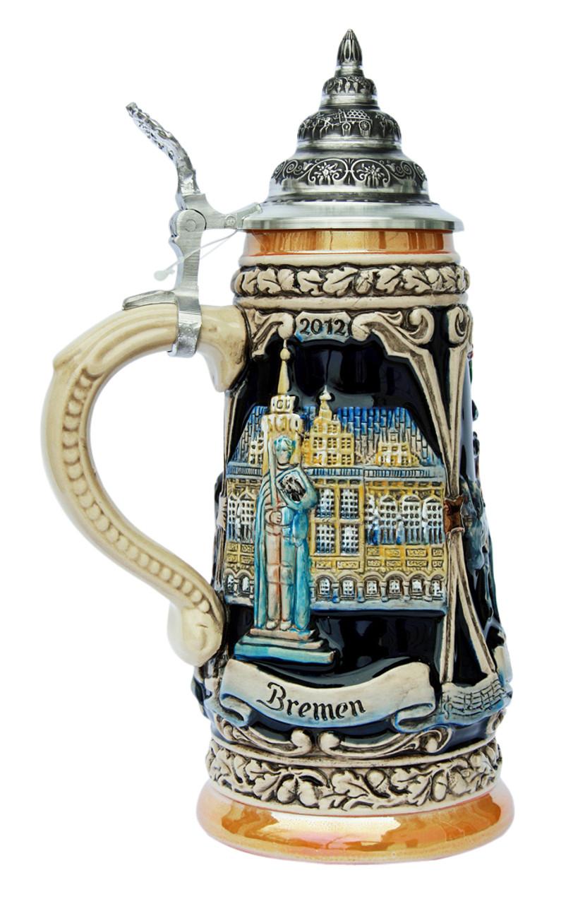 Brothers Grimm Bremen Town Musicians Beer Stein