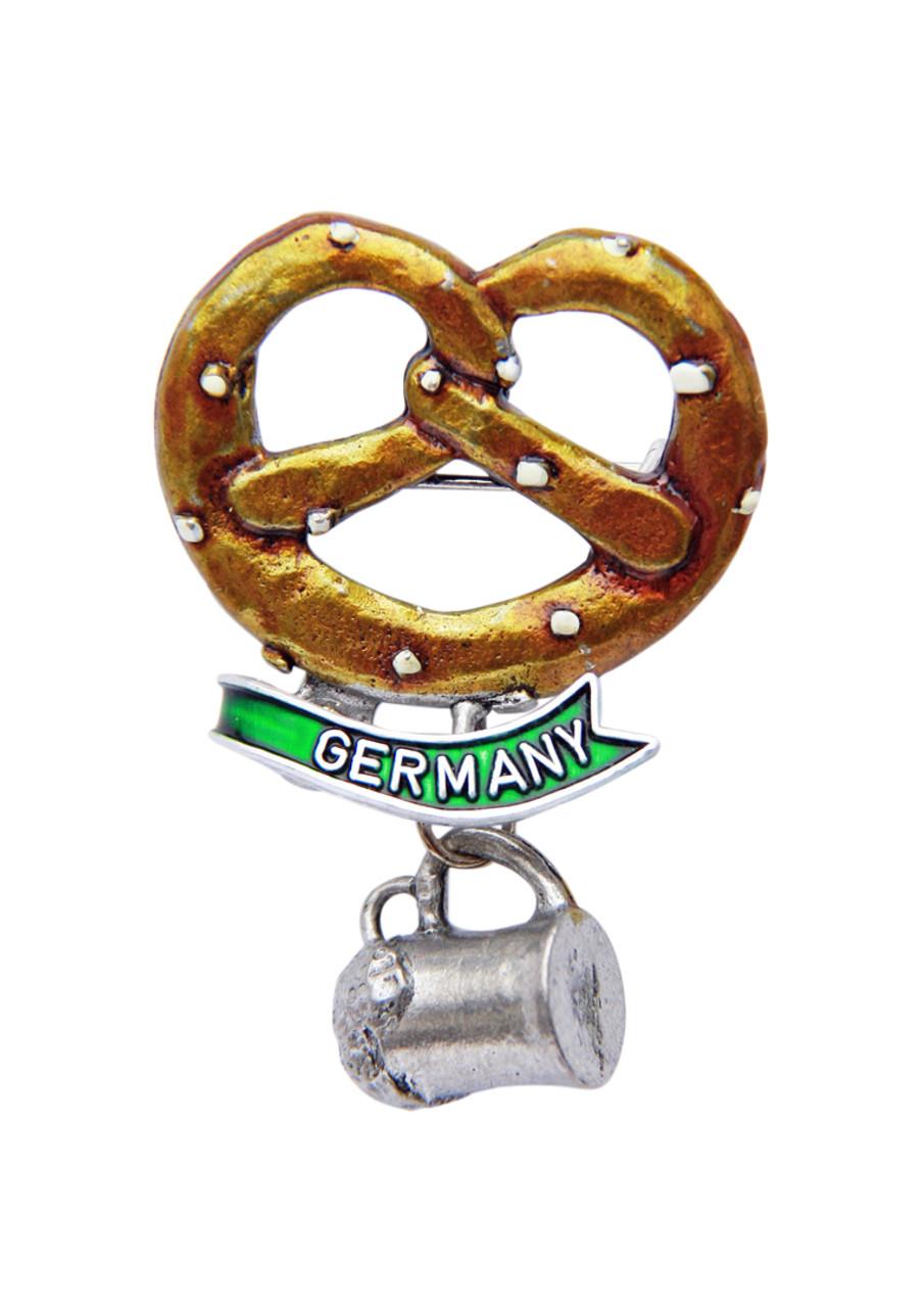 Germany Pretzel with Beer Mug German Hat Pin