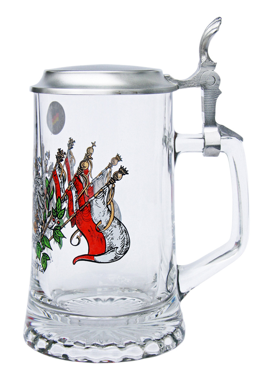 Authentic German Beer Glass with Lid