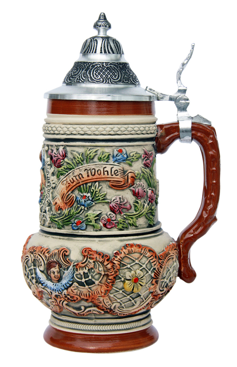 Rococo Cherub Prosit Beer Stein