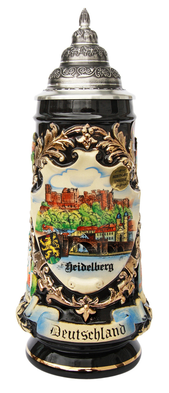 Limited Edition Heidelberg Beer Stein with Pewter Lid