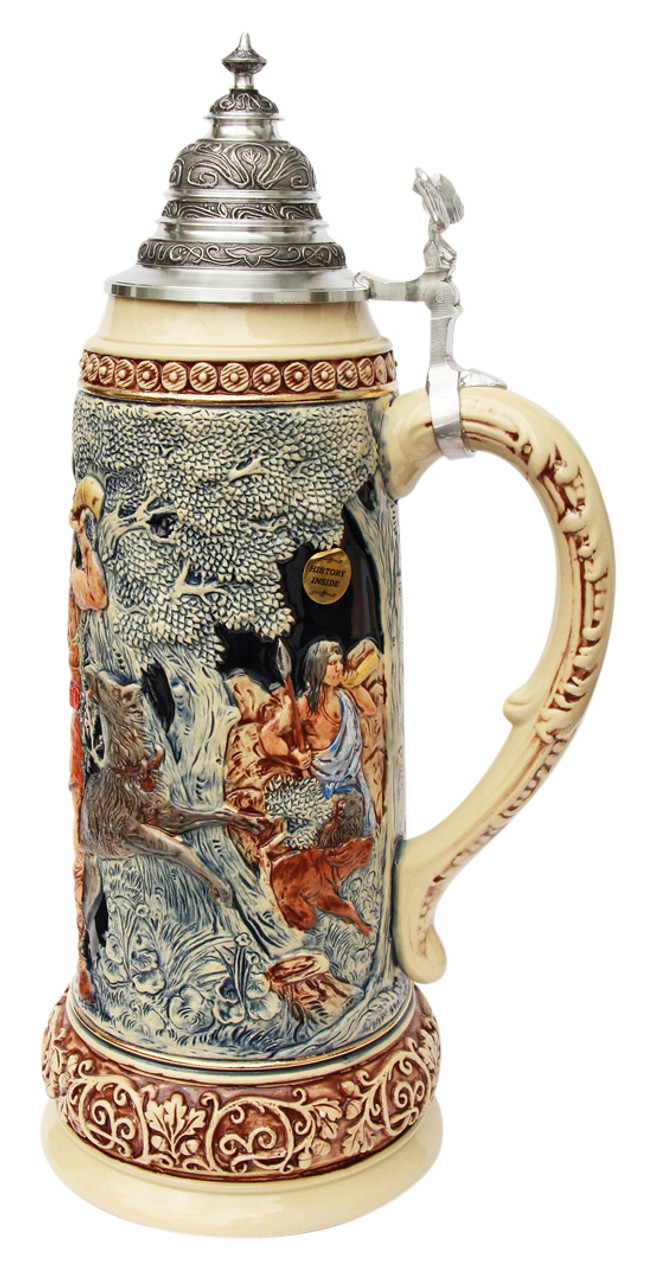 King Limitaet 2014 | Hermann the German Handpainted Beer Stein