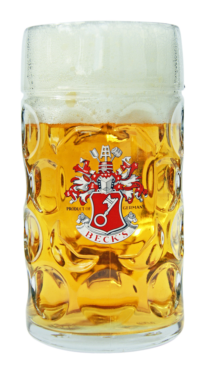 Beck's Oktoberfest Beer Glass Mug 1 Liter