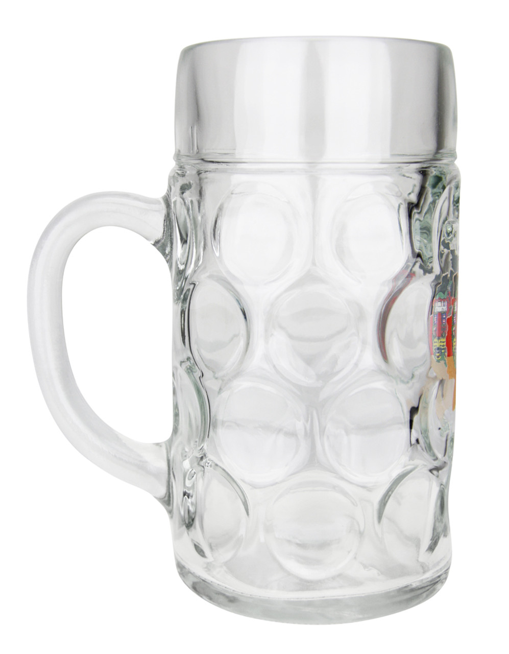 Deutschland Map Dimpled Oktoberfest Glass Beer Mug 1 Liter