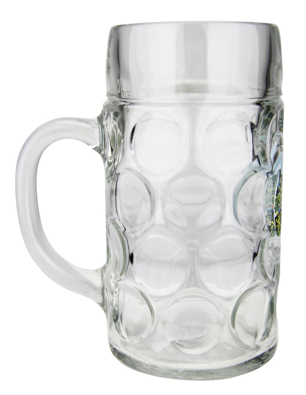 Side View of 1 Liter German Heidelberg German Beer Mug