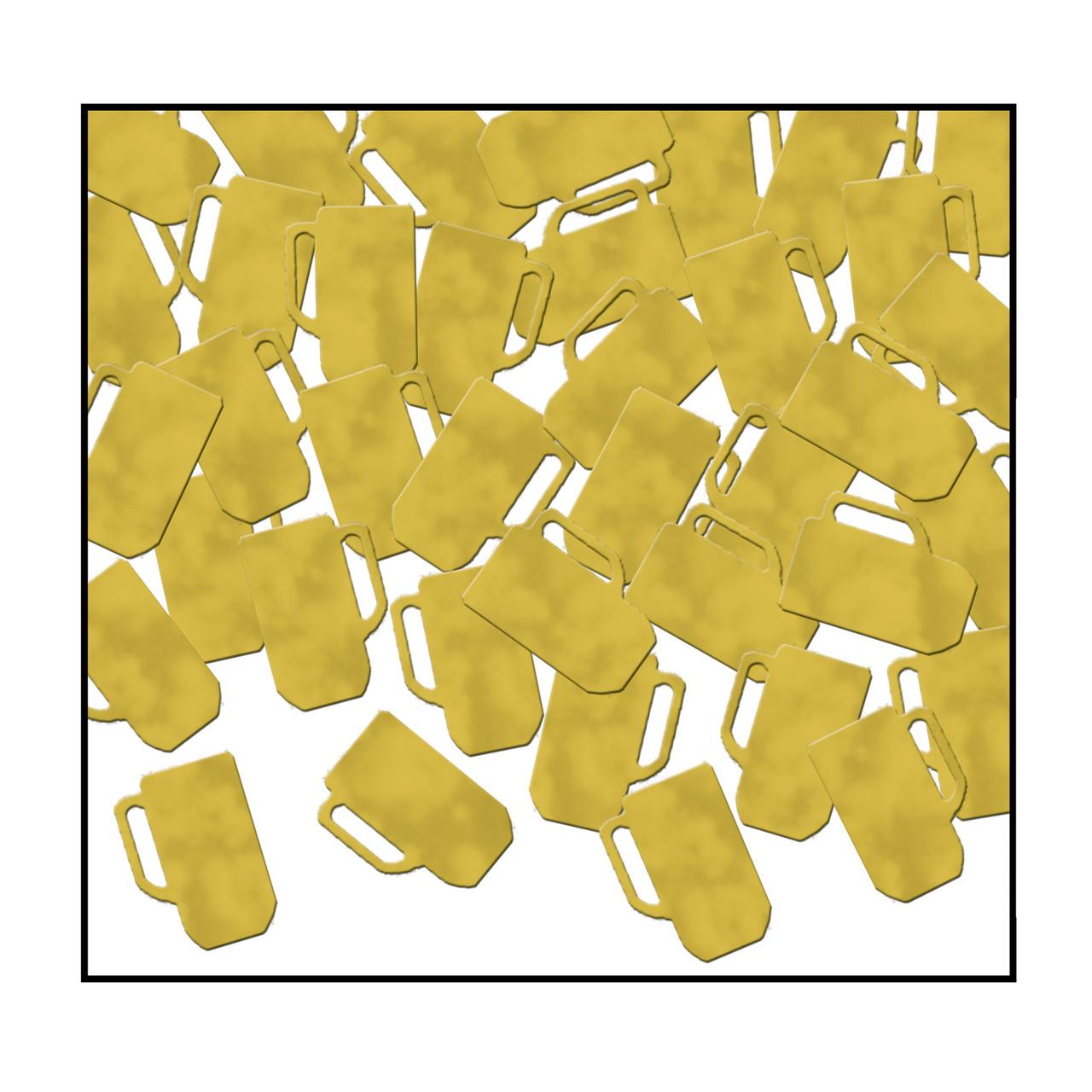 Gold Beer Mug Confetti Party Decoration Germansteins Com