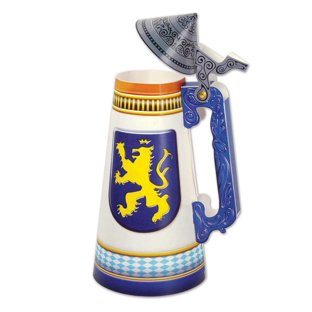 Beer Stein Paper Cut Out Centerpiece 3D 11.75in tall
