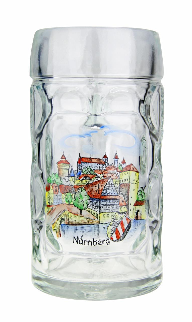 Authentic .5 Liter Oktoberfest Beer Mug with hand painted Nurnberg motif