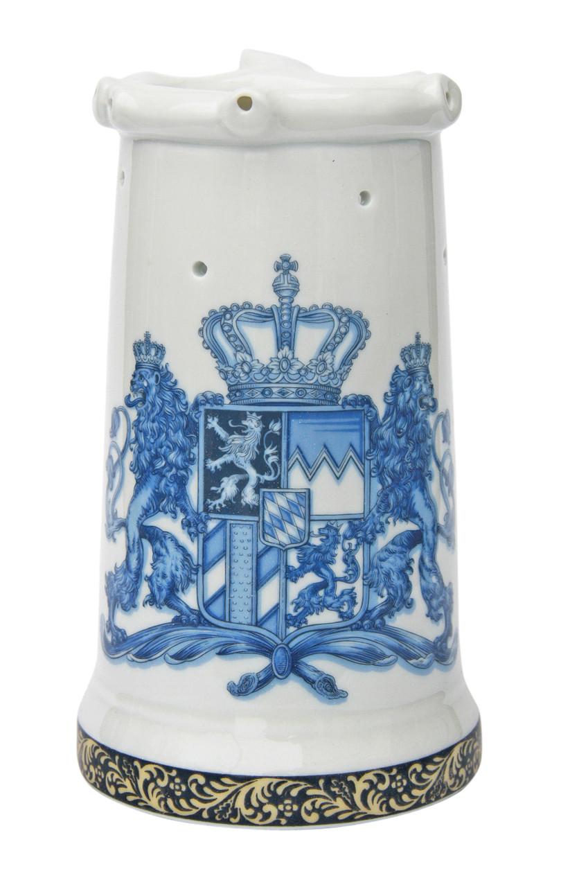 Bavaria Crest Porcelain Puzzle Beer Stein Blue
