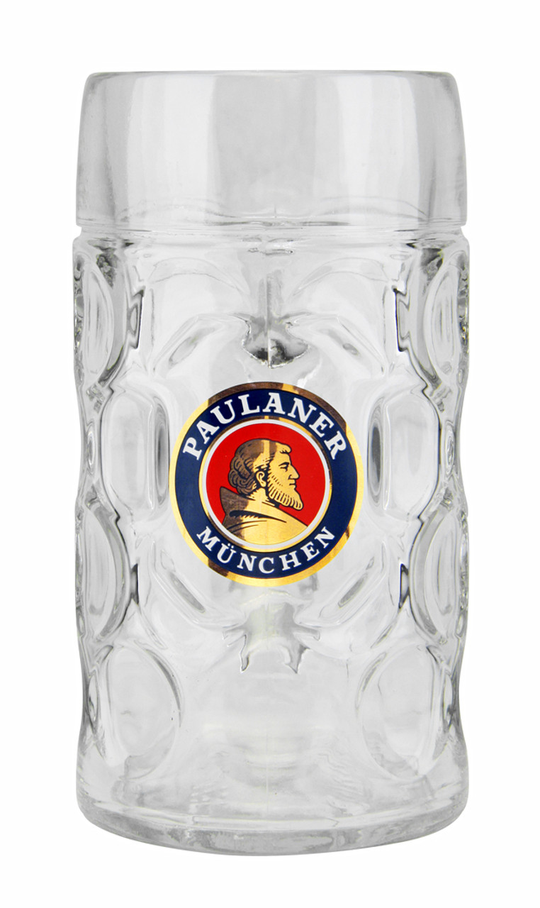 Glass Dimpled Beer Mug with Custom Engraving Option