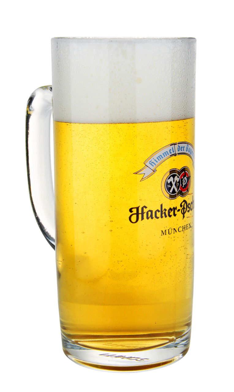 Personalized .5 Liter Hacker Pschorr Glass with Beer