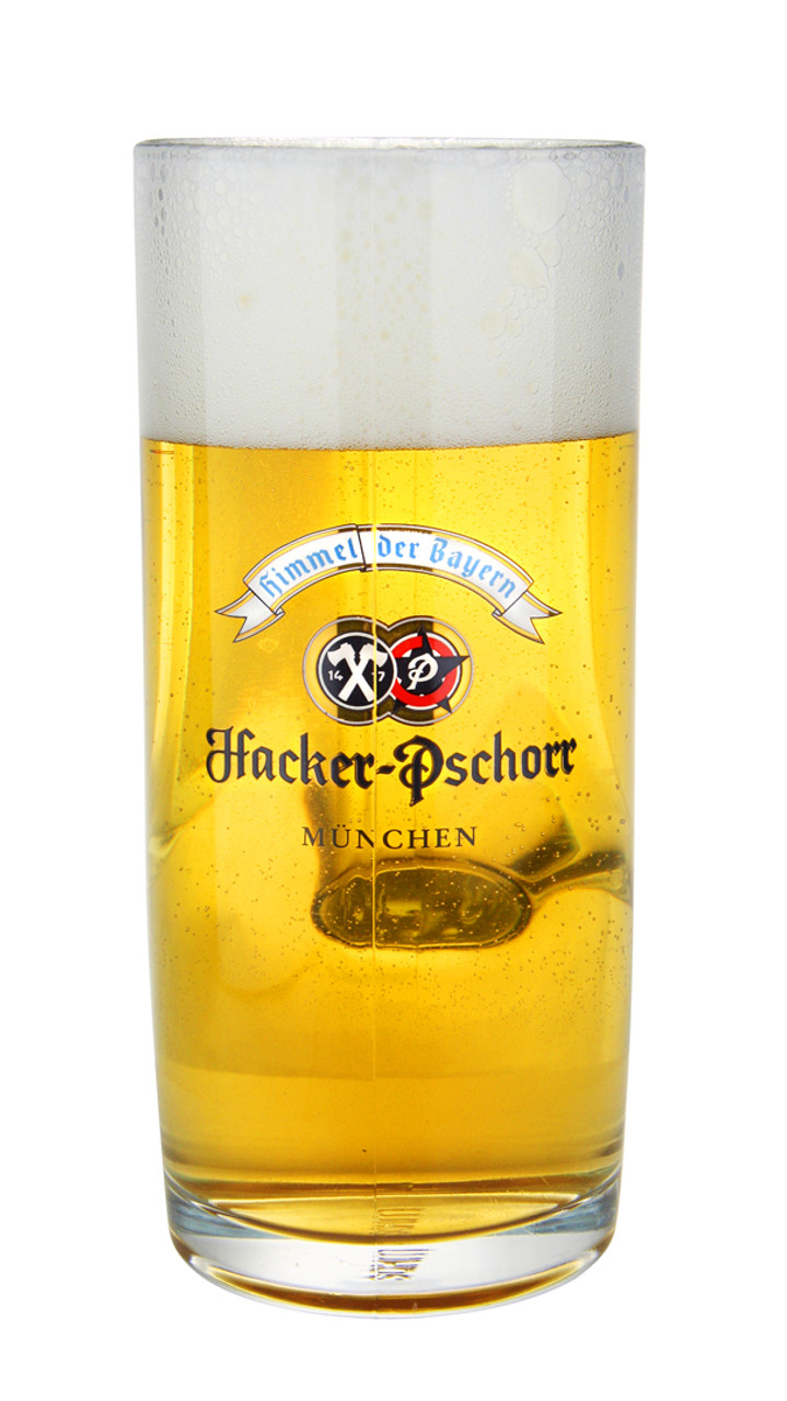 Full .5 Liter Beer Mug with Authentic Hacker Pshorr Logo