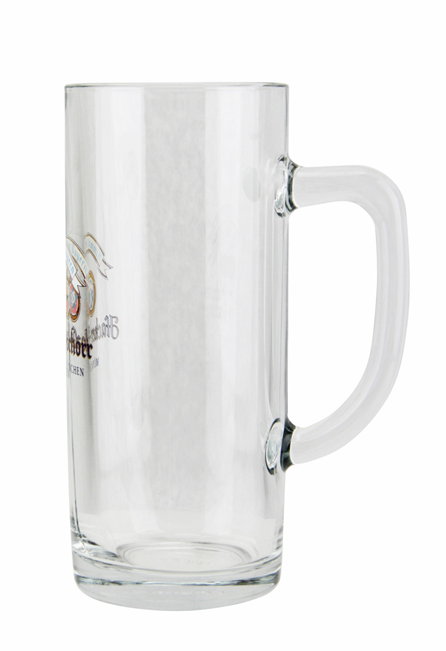 Side View of Traditional .5 Liter Hacker Pshorr Beer Glass