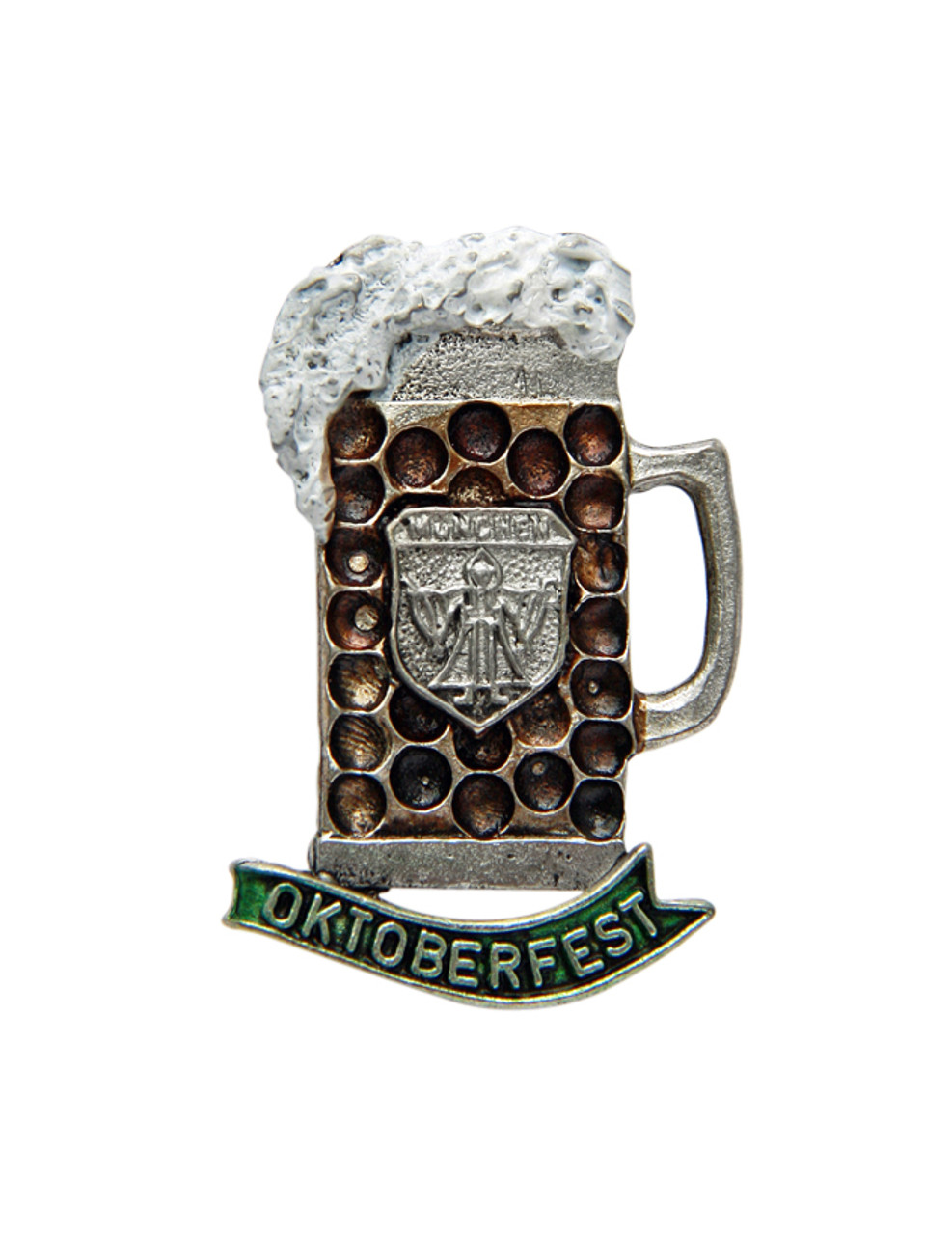 Oktoberfest Munich Frothing Dimpled Mug German Hat Pin