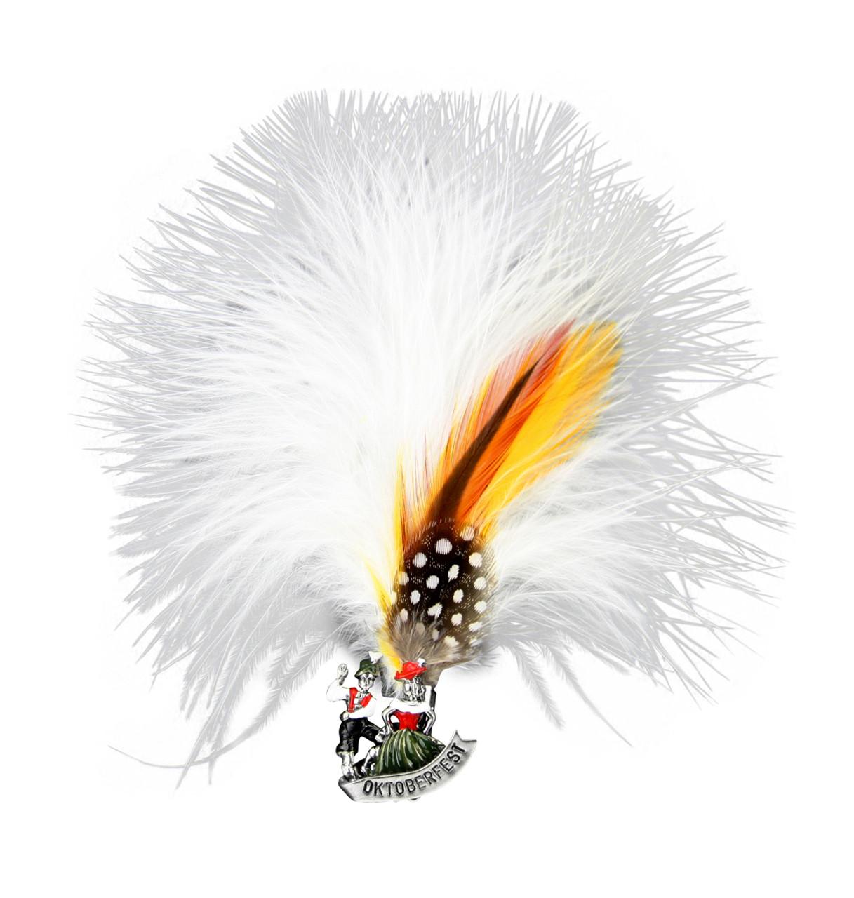 Bavarian Couple Oktoberfest Feather German Hat Pin