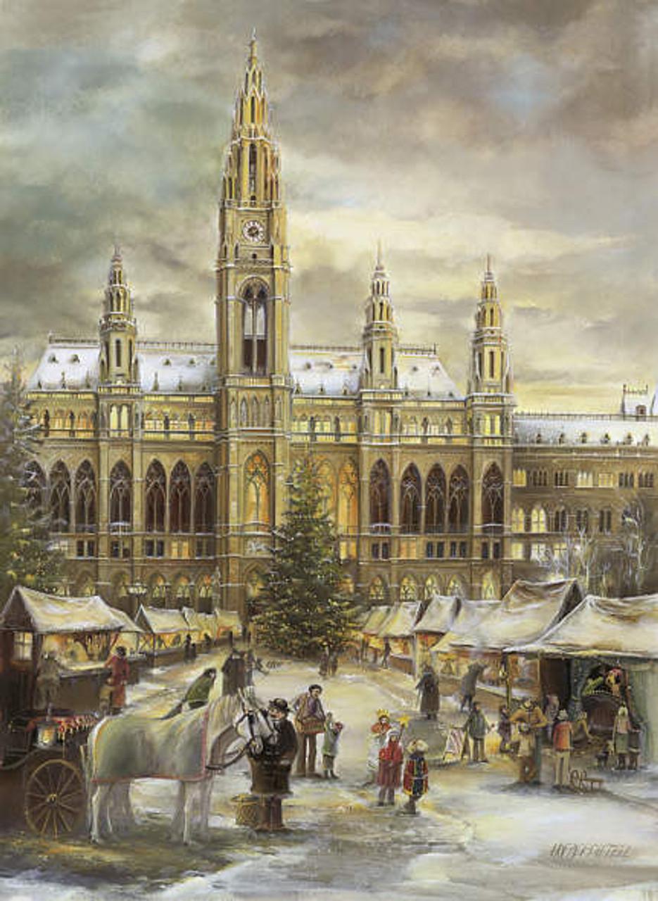 Detailed Vienna Christmas Market German Advent Calendar